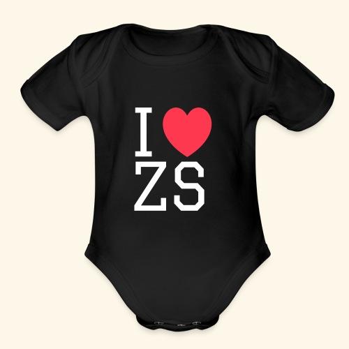 I ♥ ZS Black - Organic Short Sleeve Baby Bodysuit