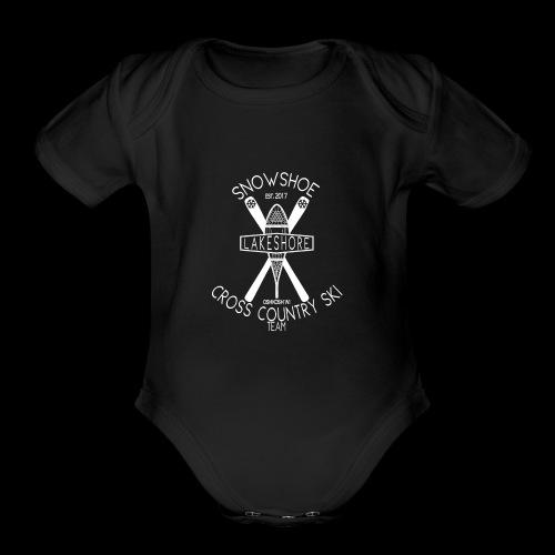 snowshoe 1 - Organic Short Sleeve Baby Bodysuit