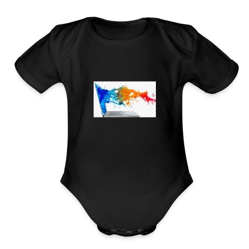 ic-7497 - Organic Short Sleeve Baby Bodysuit