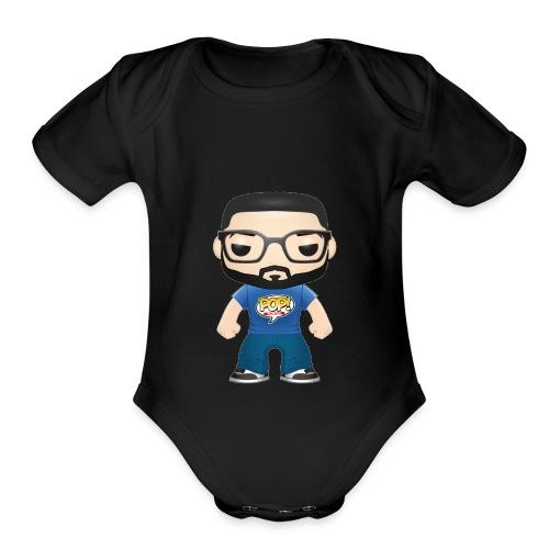 new pop icon - Organic Short Sleeve Baby Bodysuit