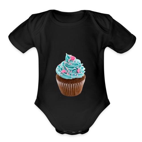 Cupcake mug - Organic Short Sleeve Baby Bodysuit