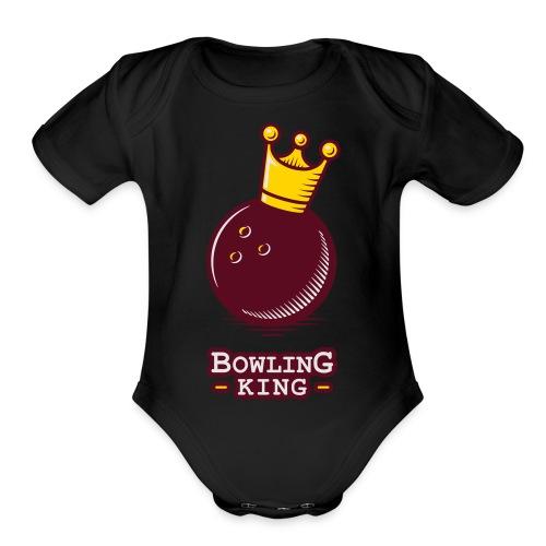Bowling King - Organic Short Sleeve Baby Bodysuit
