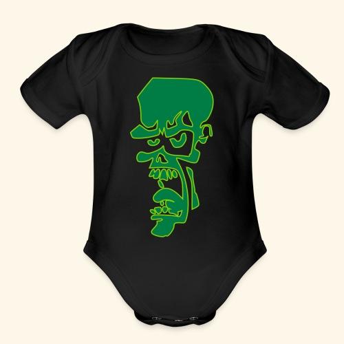 zombie - Organic Short Sleeve Baby Bodysuit