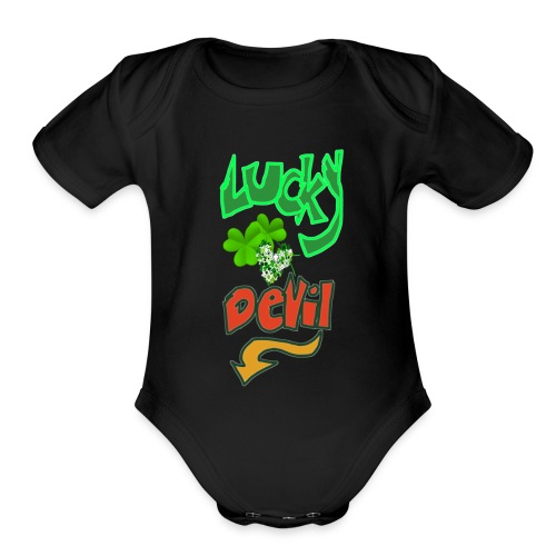 Lucky devil - Organic Short Sleeve Baby Bodysuit
