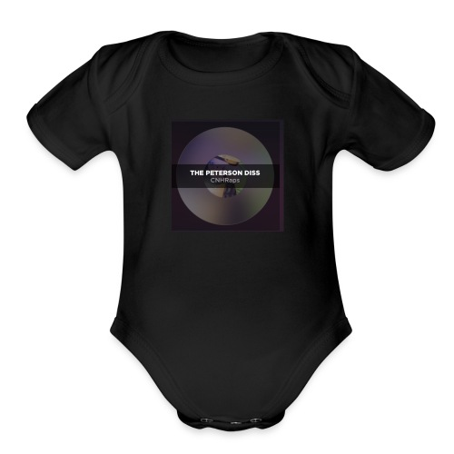 Peterson diss shirt - Organic Short Sleeve Baby Bodysuit