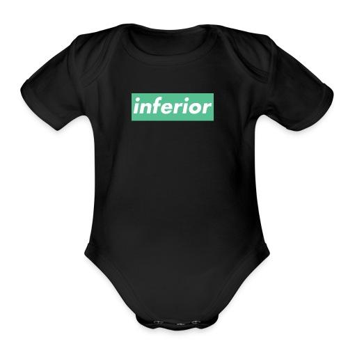 inferior - Organic Short Sleeve Baby Bodysuit
