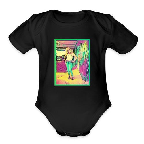 Beauty Queen - Organic Short Sleeve Baby Bodysuit