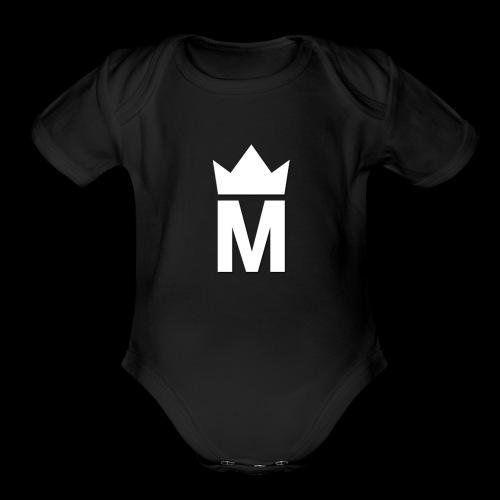 White Majesty Logo - Organic Short Sleeve Baby Bodysuit