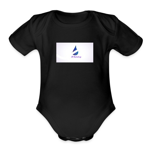 i8 Raindrop - Organic Short Sleeve Baby Bodysuit
