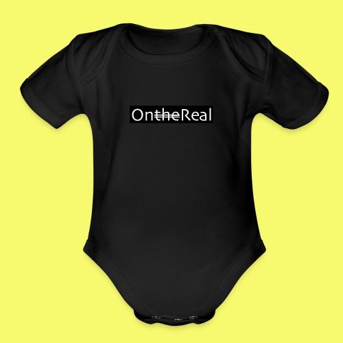 OntheReal coal - Organic Short Sleeve Baby Bodysuit