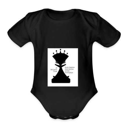 LogoImage2WordsLarge - Organic Short Sleeve Baby Bodysuit