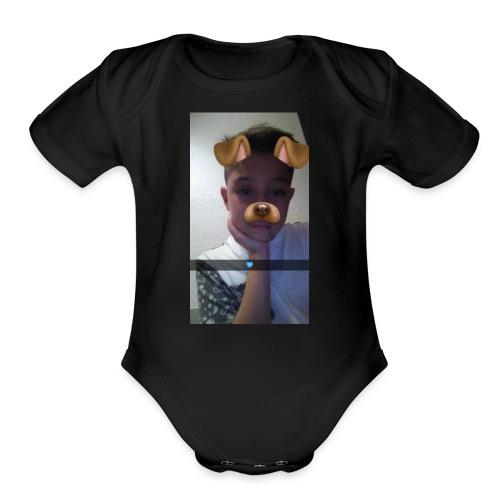 Snapchat 839021424 - Organic Short Sleeve Baby Bodysuit