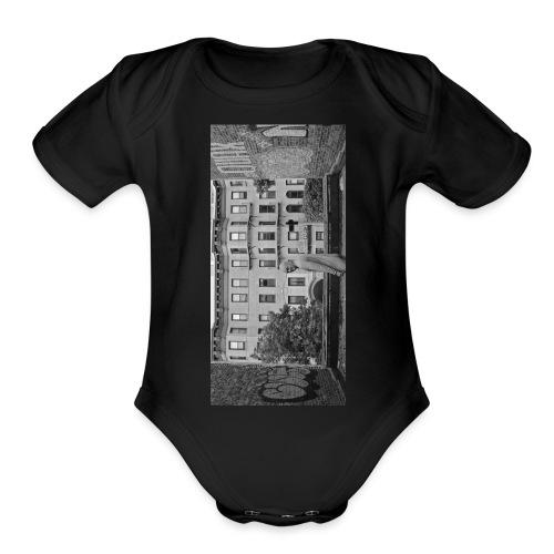 blackiphone5 - Organic Short Sleeve Baby Bodysuit