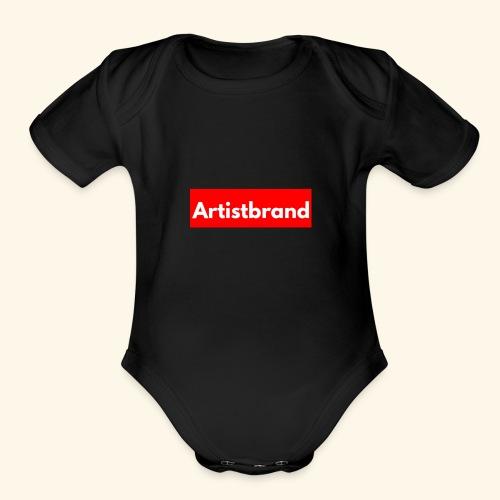 Artist Brand box logo - Organic Short Sleeve Baby Bodysuit