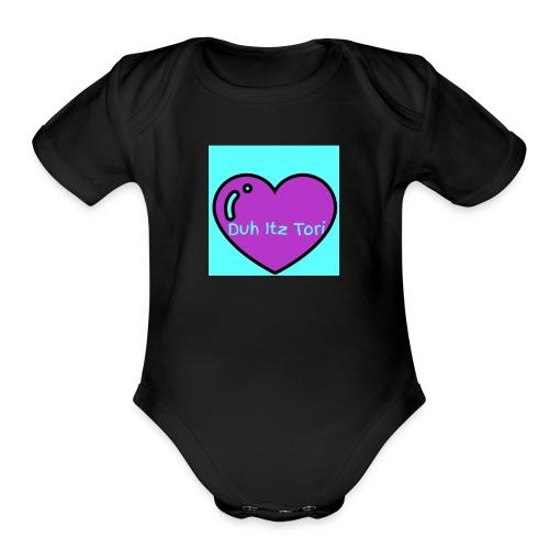Tori's Logo Hoodie - Organic Short Sleeve Baby Bodysuit