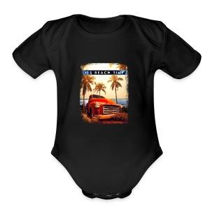 Its Beach Time - Short Sleeve Baby Bodysuit