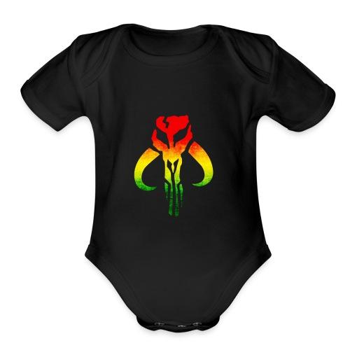 Rasta Mandalorian - Organic Short Sleeve Baby Bodysuit