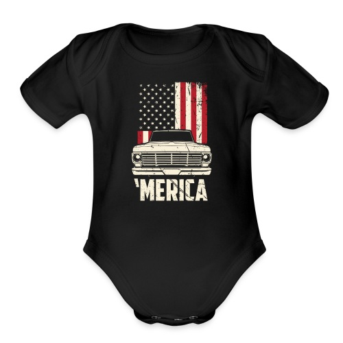 'Merican F100 Truck Men's T-Shirt - Organic Short Sleeve Baby Bodysuit