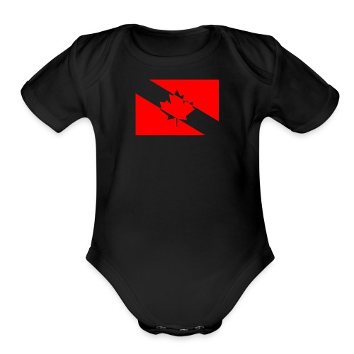 Clear White Dive Canada v. Small - Organic Short Sleeve Baby Bodysuit