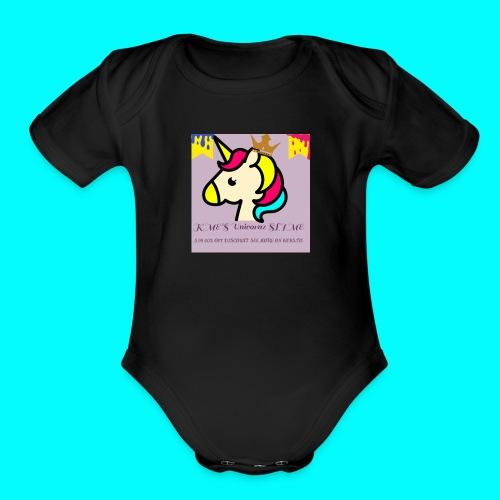KME'S LOGO - Organic Short Sleeve Baby Bodysuit
