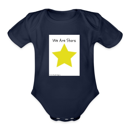 Hi I'm Ronald Seegers Collection-We Are Stars - Organic Short Sleeve Baby Bodysuit