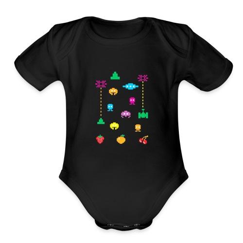 80s Video Games - Organic Short Sleeve Baby Bodysuit