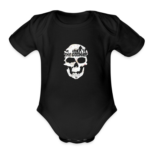 the goonies never say die merchandise - Organic Short Sleeve Baby Bodysuit