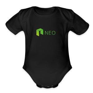 Neo Cryptocurrency logo - Short Sleeve Baby Bodysuit