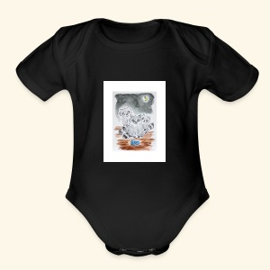 Three Little Bandits - Short Sleeve Baby Bodysuit