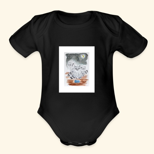 Three Little Bandits - Organic Short Sleeve Baby Bodysuit
