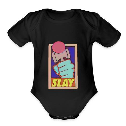 Slay Kendama Design - Organic Short Sleeve Baby Bodysuit