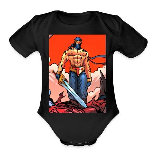 P4TD png - Organic Short Sleeve Baby Bodysuit