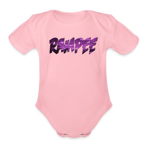 Purple Cloud Rampee - Organic Short Sleeve Baby Bodysuit