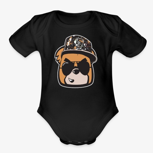 Bearly Fresh FACEONLY - Organic Short Sleeve Baby Bodysuit