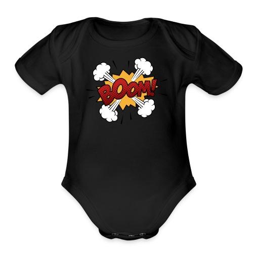 boom - Organic Short Sleeve Baby Bodysuit
