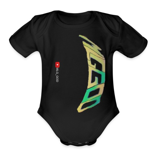 Mlg_God hoodie - Organic Short Sleeve Baby Bodysuit