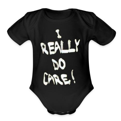 I Really Do Care Melania - Organic Short Sleeve Baby Bodysuit