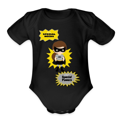 Special Powers Batgirl - Organic Short Sleeve Baby Bodysuit