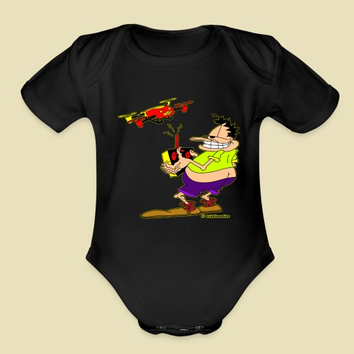 GrisDismation Ongher Droning Out Tshirt - Organic Short Sleeve Baby Bodysuit