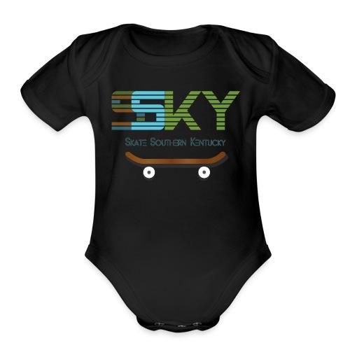 SSKY board logo - Organic Short Sleeve Baby Bodysuit