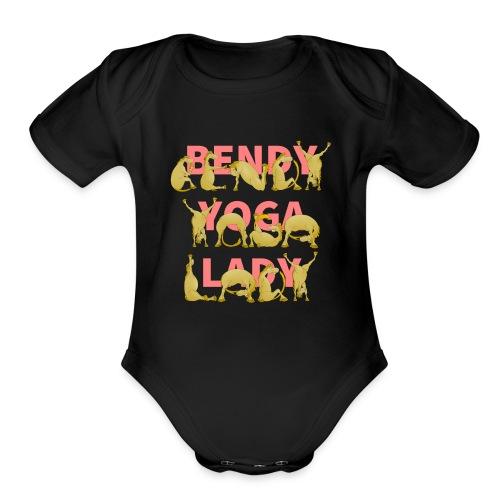 Crazy Yoga Lady - Organic Short Sleeve Baby Bodysuit