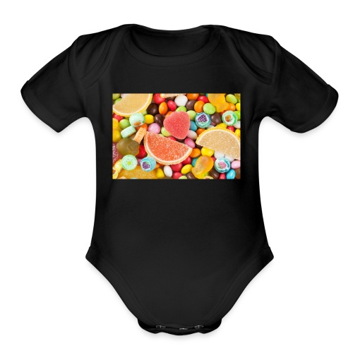 Sugar and Sweets - Organic Short Sleeve Baby Bodysuit