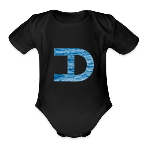 Water - Organic Short Sleeve Baby Bodysuit