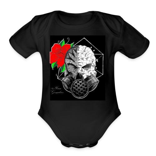 Caveira toxica - Organic Short Sleeve Baby Bodysuit