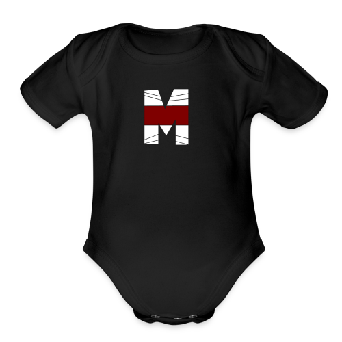 WHITE AND RED M Season 2 - Organic Short Sleeve Baby Bodysuit