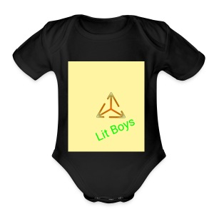 Lit Boys Don't Care merch - Short Sleeve Baby Bodysuit