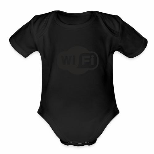 wifi - Organic Short Sleeve Baby Bodysuit