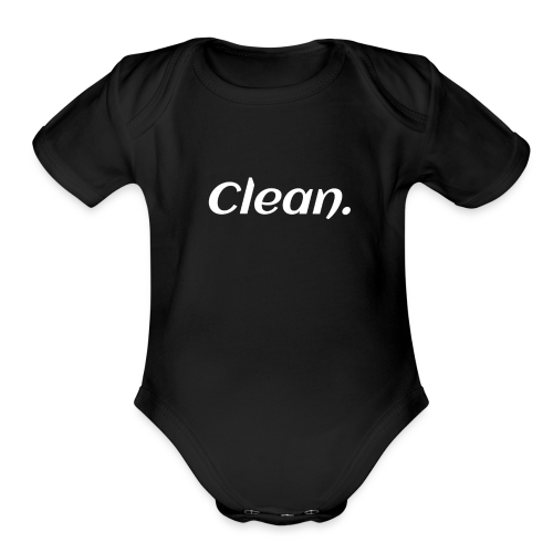 Clean T-shirt - Organic Short Sleeve Baby Bodysuit