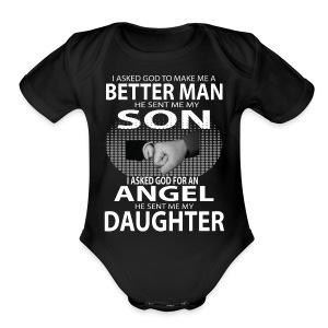 Better Man Son Daughter Shirts - Short Sleeve Baby Bodysuit