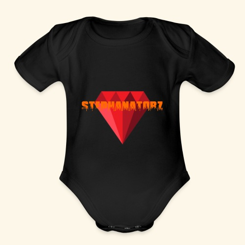 Rubis stephanevlogs merch - Organic Short Sleeve Baby Bodysuit